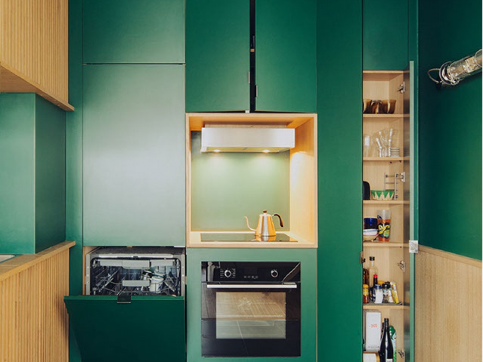 Green HPL for kitchen application