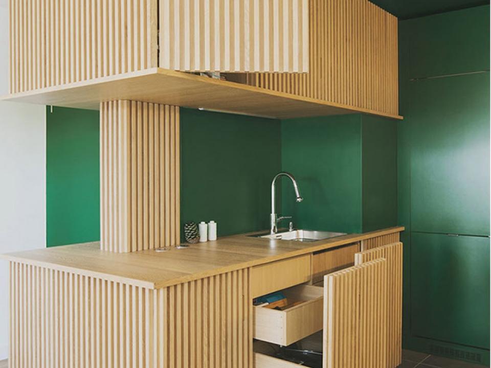 Green HPL for kitchen application